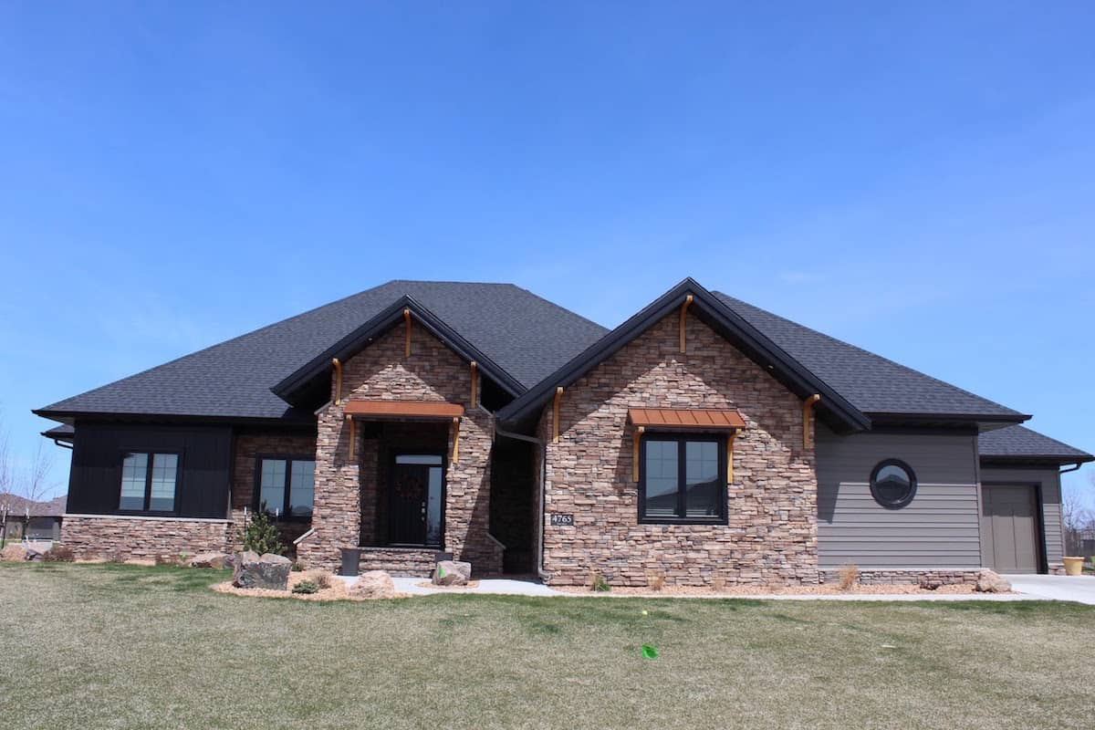 stone exterior of house done by otxteriors masonry