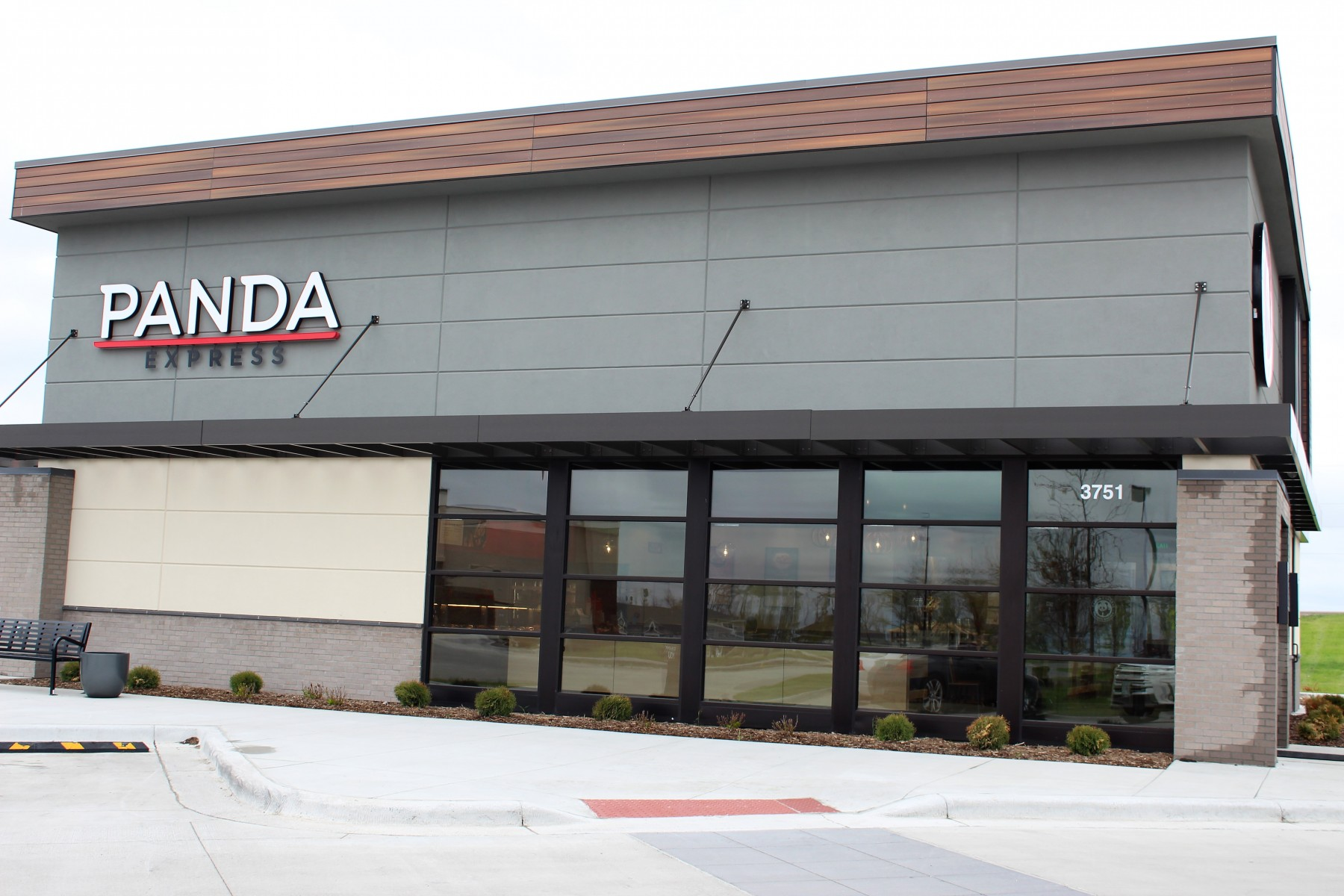Stucco and brick work by OTXteriors on exterior of Panda Express in Fargo North Dakota