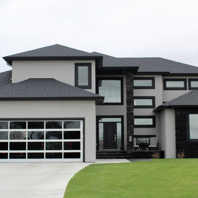 EIFS stucco exterior modern contemporary house in Fargo work by OTXteriors