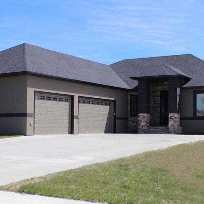 stucco EIFS exterior of house done by OTXteriors Fargo